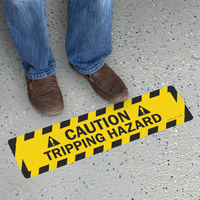 Caution Tripping Hazard SlipSafe Floor Sign