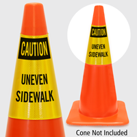 Caution Uneven Sidewalk Cone Collar