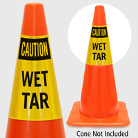Caution Wet Tar Cone Collar