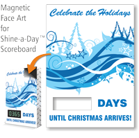 Celebrate The Holidays Scoreboard Changeable Magnetic Face