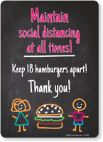 Maintain Social Distancing: Keep 18 Hamburgers Apart!