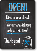 Open: Take-Out and Delivery Only at This Time