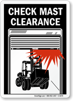 Check Mast Low Clearance Sign