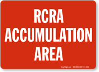 RCRA Accumulation Area Sign