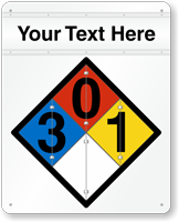 Chemical Identification NFPA Flip Placard