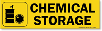 Magnetic Cabinet Label: Chemical Storage