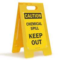 Caution Chemical Spill Keep Out Fold-Ups® Floor Sign