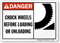 Chock Wheels Before Loading Or Unloading Sign