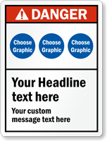 Choose Header, Cliparts, Add Headline And Custom Text Sign