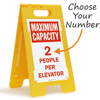 Choose Maximum Capacity Per Elevator FloorBoss Sign