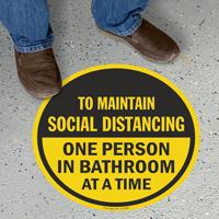 Choose Number of Person In Bathroom Social Distancing Floor Sign