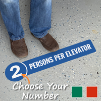 Choose Number Of Persons Per Elevator SlipSafe Floor Sign