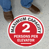 Choose Your Maximum Capacity Per Elevator Floor Sign