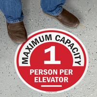Choose Your Maximum Capacity Per Elevator Floor Sign