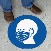 Circular Face Covering Sign