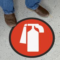 Circular Fire Extinguisher Sign