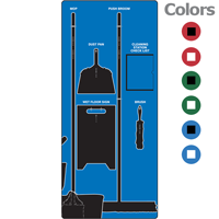 Clean and Mop Shadow Board Kit