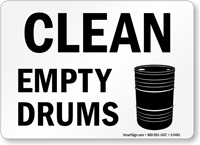 Clean Empty Drums (with graphic)