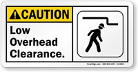 Low Overhead Clearance Sign