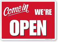 Come In We Are Open Social Distancing Sign