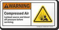 Compressed Air ANSI Warning Sign