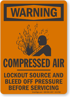 Compressed Air OSHA Warning Sign