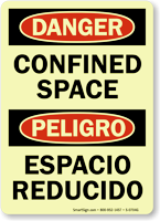 Glow Danger / Peligro Confined Space (Bilingual)