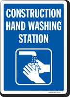 Construction Hand Washing Station Sign