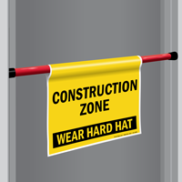 Construction Zone Door Barricade Sign