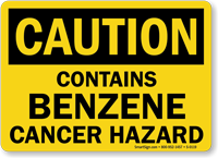 Caution: Contains Benzene Cancer Hazard