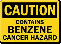 Caution: Contains Benzene Cancer Hazard