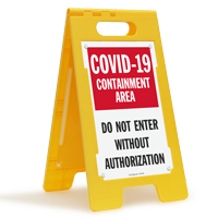 Containment Area Do Not Enter FloorBoss Sign