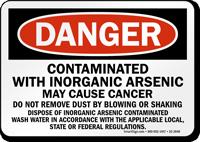 Contaminated With Inorganic Arsenic OSHA Danger Sign