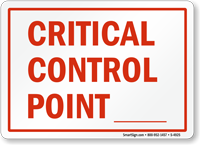 Critical Control Point ---