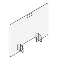 Countertop-Desktop Panels - Cut-Out Pass-Through Style