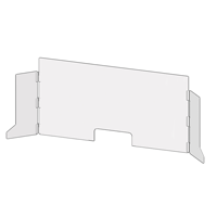 Countertop-Desktop Panels w/ Side Wings & Cut-Out Pass-Through