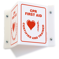 CPR First Aid Projecting Sign