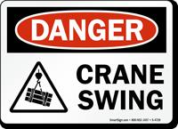 Crane Swing OSHA Danger Sign
