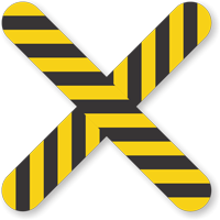 Cross Floor Marker With Stripes