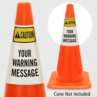 Custom ANSI Caution Cone Collar