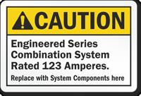 Custom ANSI Caution Sign