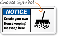 Create Own Housekeeping OSHA Notice Sign
