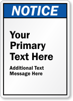 Create Own ANSI Notice Sign