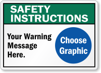 Custom ANSI Safety Instructions Sign