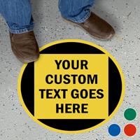"Custom 17"" Diameter Floor Sign"