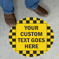 Custom Pebble Finished Floor Sign