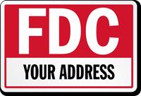 Custom FDC Address Sign