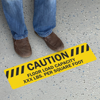 Personalized Caution Floor Load Capacity Slipsafe Sign