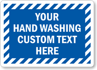 Custom Hand Washing Sign