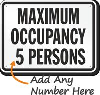Custom Maximum Occupancy People Sign